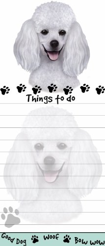 """Poodle Magnetic List Pads"" Uniquely Shaped Sticky Notepad Measures 8.5 by 3.5 Inches"