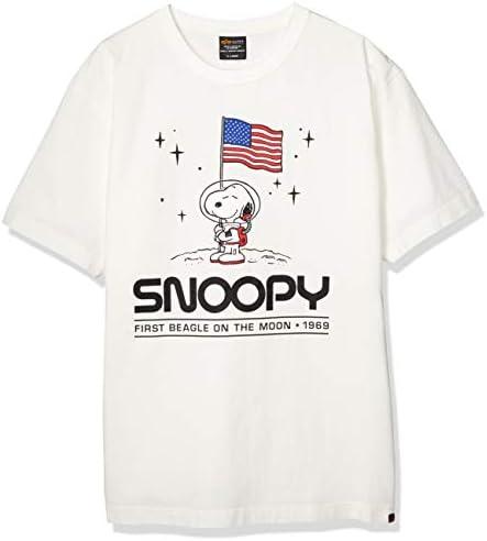 Tシャツ 【公式】PEANUTS×ALPHA 半袖プリントTシャツ(ON THE MOON) TC1426-1
