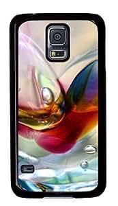 Bubbles Background Custom Samsung Galaxy S5/Samsung S5 Case Cover Polycarbonate Black