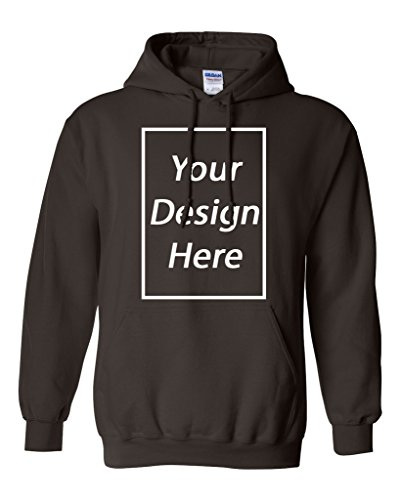 City Shirts Add Your Own Text and Design Custom Personalized Sweatshirt Hoodie (X Large, Dark (Personalized Dark Chocolate)