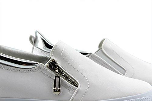 Modelisa Elastico BLANCO Mujer Zapatillas Cremallera YY68SRq