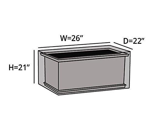 CoverMates rectangular Fogón de la cubierta 26W x 22D x 21H Elite de ...