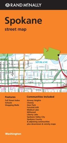 Spokane Washington (Rand Mcnally Street Maps) - Spokane Malls Shopping