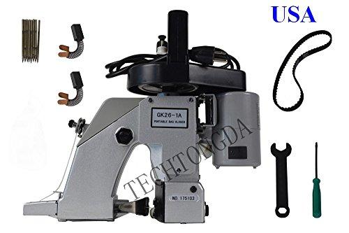 Portable Manual Electric Bag Sack Closing Sewing Machine Stitcher 110V