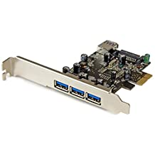 StarTech PEXUSB3S42 4-Port PCI Express USB 3.0 Card 3 External and 1 Internal-Standard and Low-Profile