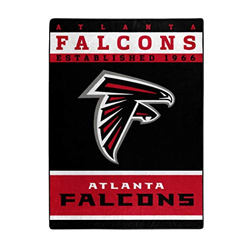 The Northwest Company Officially Licensed NFL Atlanta Falcons 12th Man Plush Raschel Throw Blanket, 60