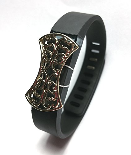 Outfit Fitbit For C Dress Flex Accessory Band fitness Fashion Clasp Activity White Wireless Bling amp; With Black Wristband 2pcs UWnwAqx6