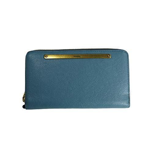 FOSSIL ZIP CLUTCH Geldbörse Portemonnaie Geldbeutel Blau