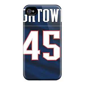 High Quality Shock Absorbing Case For Iphone 4/4s-new England Patriots