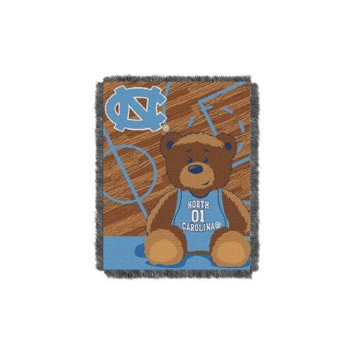 (The Northwest Company Officially Licensed NCAA North Carolina Tar Heels Half Court Woven Jacquard Baby Throw Blanket, 36