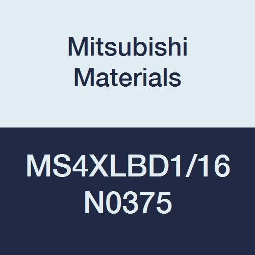Mitsubishi Materials MS4XLBD1//16N0375 MS4XLB Series Carbide Mstar Ball Nose End Mill Long Neck Flute 4 Flutes 0.3750 Neck Length 0.0625 Cutting Dia