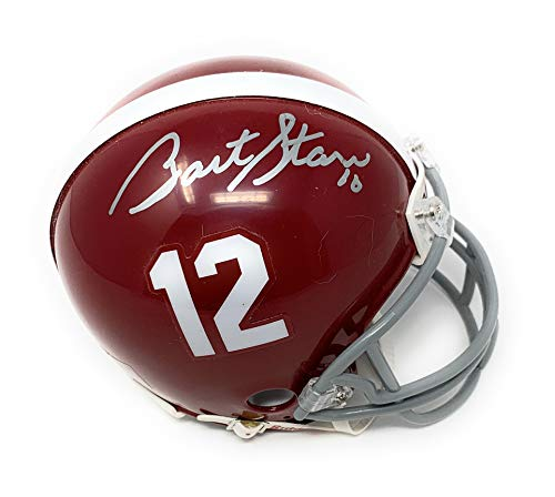 Bart Starr Alabama Crimson Tide Signed Autograph Mini Helmet Tristar Authentic Certified Bart Starr Signed Helmet