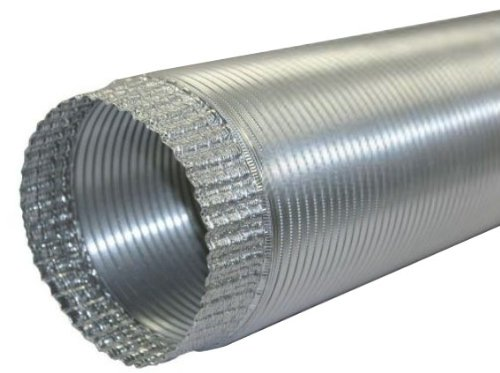 Speedi-Products EX-AFC 696 6-Inch Diameter by 96-Inch Length Aluminum Flex Pipe Crimped One End