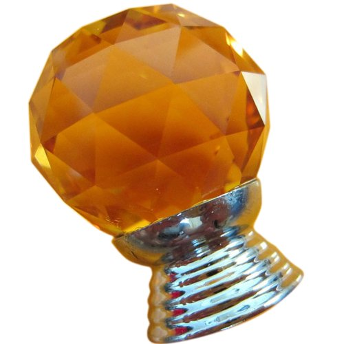 - Tangpan 30mm Diamond K9 Crystal Glass Door Handle Cabinet Knobs Color Amber Pack of 10