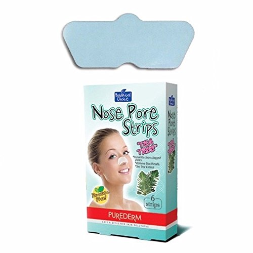 Tea Tree Nose Pore Strips 4 Packs, 24 Strips (6 strips/pack) Adwin USA ADS264