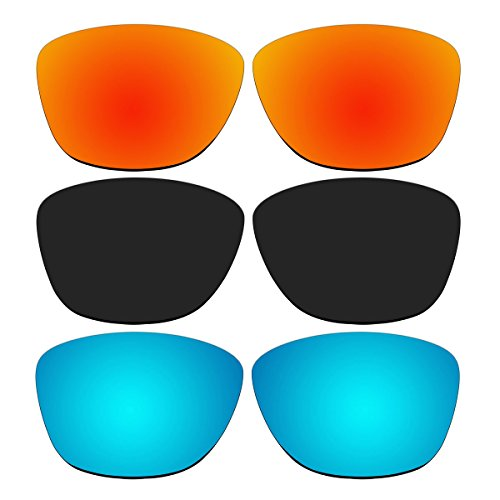 3 Pair Replacement Polarized Lenses for Oakley Jupiter Sunglasses Pack P1 (Not Fit Jupiter Carbon, Jupiter Squared, Jupiter Factory - Jupiter Carbon Squared