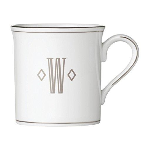 Lenox 874501 Federal Platinum Monogrammed Mug