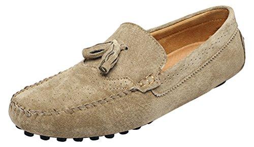 CFP - Stivali con le frange uomo, beige (Beige), 40 EU