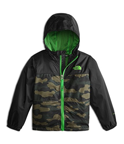 Kids Ultraviolet Camo (The North Face Toddler Flurry Wind Jacket - Burnt Olive Green and Camo Heather Print - 5T)