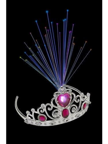 Smiffy's Light-up Fibre Optic Tiara Pink - Uk Optics
