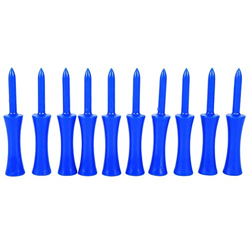 Focket Plastic Golf Tees,Portable Blue 68mm Golf Tees Step Down Golf Accessory Tool,Durable,Solid and not Easy to Break for Golf Sports(100pcs)