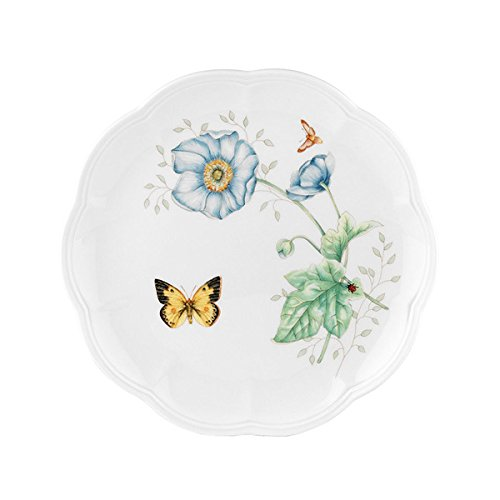 Lenox Butterfly Meadow Monarch Accent Plate White
