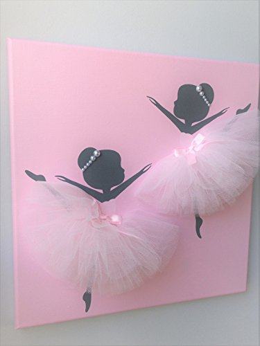 Ballerina painting. Pink ballerina canvas. by JAKS Conceptions
