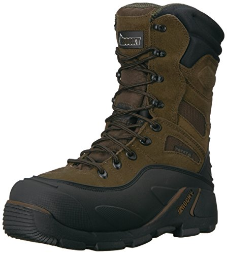 "Rocky FQ0007465 Men's BRN 9"" RWP Steel Toe Men'sS Whole 8 Work Boots"