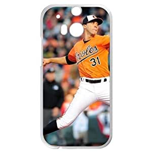 MLB&HTC One M8 White Baltimore Orioles Gift Holiday Christmas Gifts cell phone cases clear phone cases protectivefashion cell phone cases HABC605585420