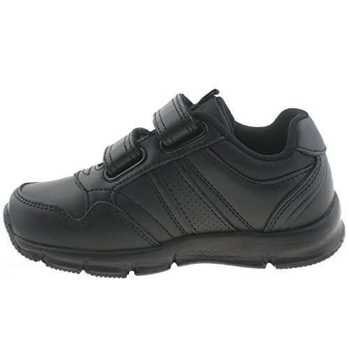 Lelli Kelly Boys EZ10 EZ1006 (CB01) Super Light 1 SNR Black Adjustable Strap School Shoes -36 (UK 3)