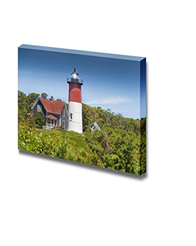 Cape Cod Canvas (Canvas Prints Wall Art - Truro Lighthouse/Highland Light on Cape Cod, MA USA | Modern Wall Decor/ Home Decoration Stretched Gallery Canvas Wrap Giclee Print & Ready to Hang - 12