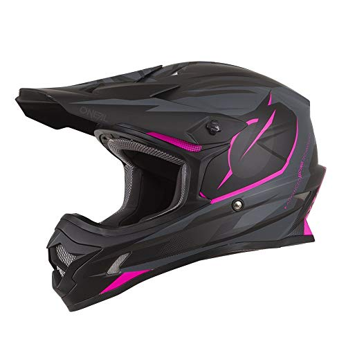 (O'Neal Unisex-Adult Off Road 3SERIES Helmet (RIFF) (Pink, Medium))