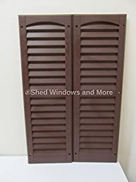 Louvered Shed Shutter or Playhouse Shutter, Brown 9\