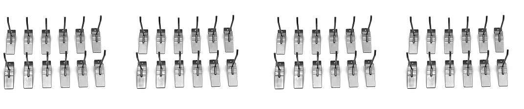 Proslat 13002 4-Inch Steel Hooks Designed for Proslat PVC Slatwall, 12-Pack (4-(Pack))
