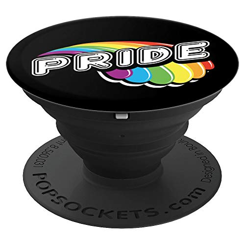 - LGBT Proud Gay Pride March Rainbow Wave Design PopSockets Grip and Stand for Phones and Tablets