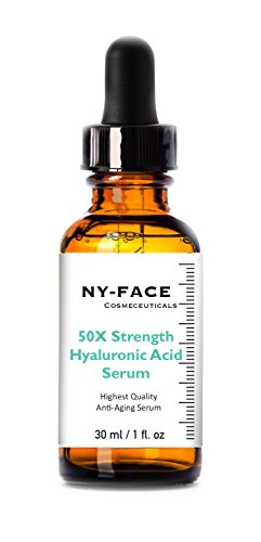 NY FACEs 50x strength Hyaluronic Acid with Vitamin C, Vitamin E
