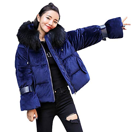 Warm Thick Outerwear Hooded Coat Slim Cotton-Padded Jacket ()