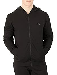 Mens Logo Zip Hoodie, Black