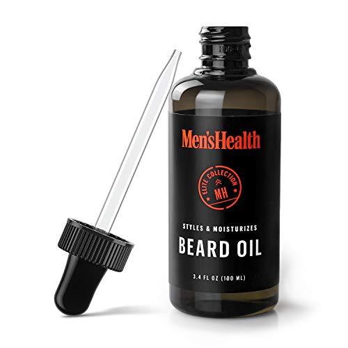 Men's Health Beard Oil for Men with Jojoba and Coconut Oil to Moisturize and Style Your Beard, 3.4 Fl Oz Bottle (Best Time To Apply Beard Oil)