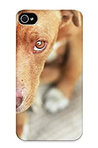 Hot Design Premium TQmmc0XRWyi Tpu Case Cover Iphone 4/4s Protection Case (pov Eyes Face Dogs Puppy )