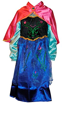 [Girls Frozen Princess Anna Costume Dress 3 (3T)] (Baby Anna Costumes Frozen)