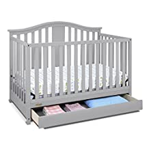 Graco Solano 4-in-1 Convertible Crib with Drawer, One Size, Pebble Gray