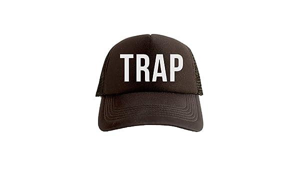 Trap Cool Swag Hip Hop impresión Trucker Sombrero Gorra Tapa Negro ...