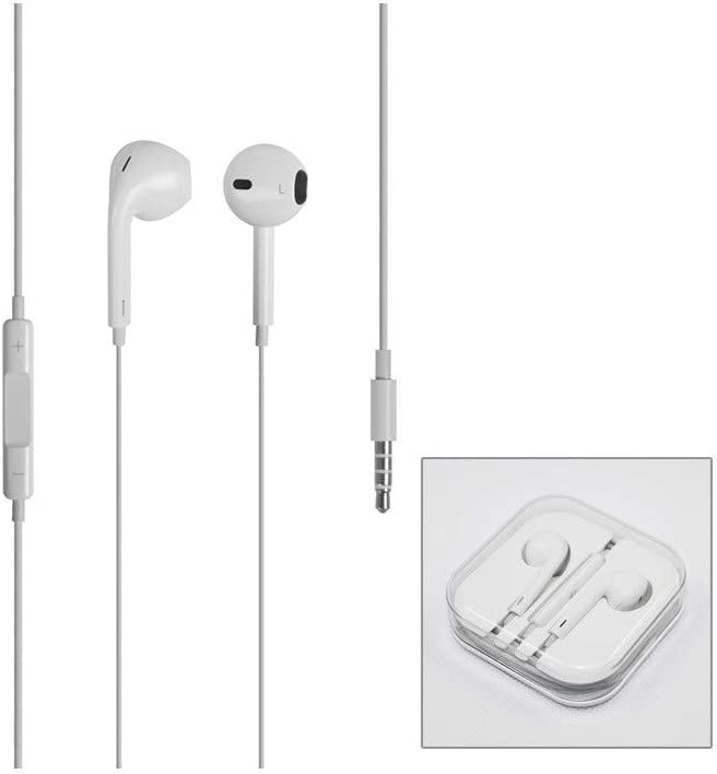 Cuffie auricolari EarPods MD827ZMA ORIGINALI APPLE per iPhone 4S 5 5S 6 6S Plus SE con jack cuffie 3.5 mm in BLISTER RETAIL PACK.