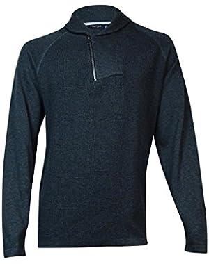 Men's Asymmetrical Sweater (XXL, Charcoal Heather)