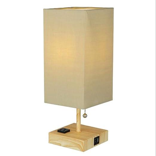Lámpara de cabecera LED, Moderna y Cuadrada, lámpara de Mesa USB ...
