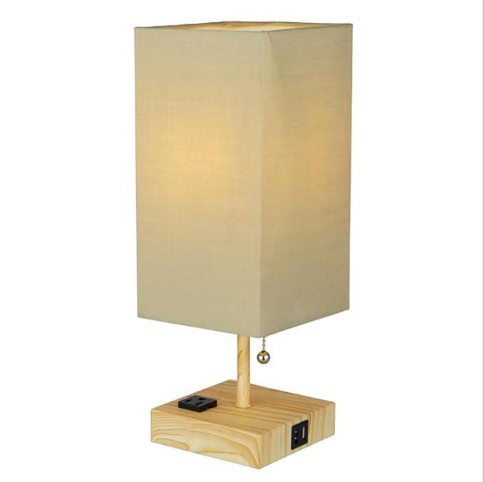 Lámpara de cabecera LED, Moderna y Cuadrada, lámpara de Mesa ...