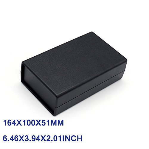 ABS Junction Box ABS Plastic Electrical Box Indoor Waterproof Black Project Enclosures for Circuit Board 164x100x51mm