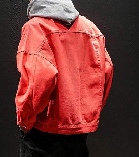 Casuale Mogogo Giacca Più Dimensioni Di Rosso Epoca Giapponese Autunno Mens Jeans Abbottonato Cappotto SqgqwInr