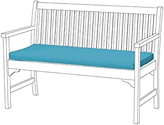 Shopisfy Outdoor Water Resistant Two Seater Bench Pad - Turquoise *Bench not included*
